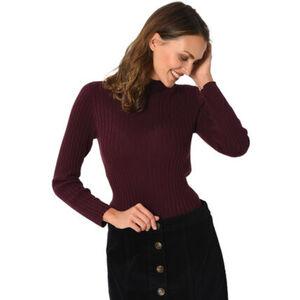 MANGUUN Pullover, Stehkragen, Rippstruktur, Baumwoll-Viskose-Mix, für Damen