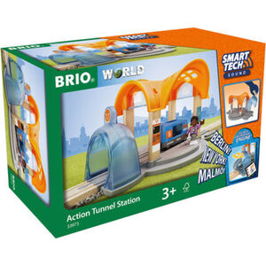 BRIO Smart Tech Sound Bahnhof, mit Action-Tunnel