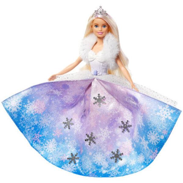 Barbie Dreamtopia Fashion-Prinzessinnen-Puppe, ca. 30cm groß, blond mit pink gesträhnter Haarpartie