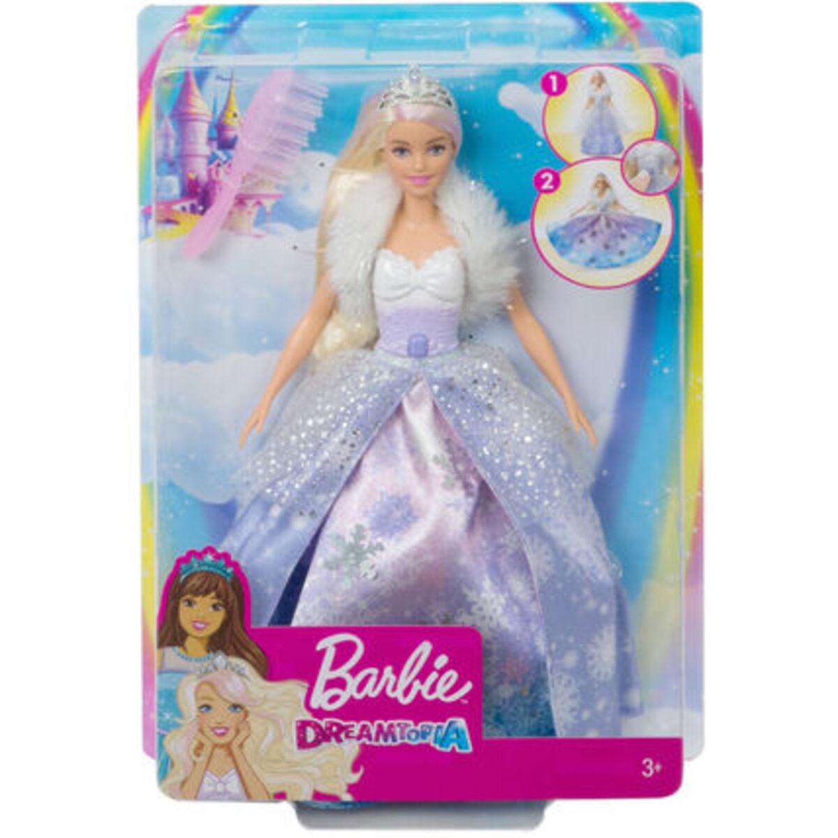 Bild 2 von Barbie Dreamtopia Fashion-Prinzessinnen-Puppe, ca. 30cm groß, blond mit pink gesträhnter Haarpartie