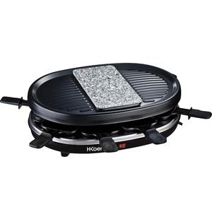 H.Koenig Raclette RP80 für 8 Personen mit Granitsteinplatte und Grill