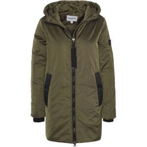 MANGUUN Jacke, unifarben, Kontrastdetails, für Damen