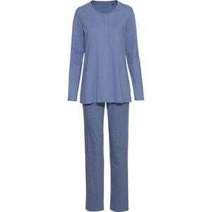 Schiesser Schlafanzug, Ziernaht, Baumwolle, für Damen