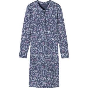 Schiesser Essentials Nachthemd, Blumen, Knopfleiste, Baumwolle, für Damen