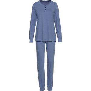 Schiesser Schlafanzug, Henley-Ausschnitt, Bündchen, für Damen