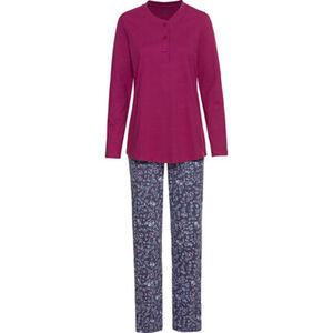 Schiesser Schlafanzug, Henley-Ausschnitt, Baumwolle, für Damen
