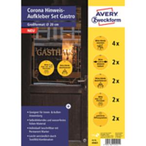 AVERY ZWECKFORM Corona Hinweis-Set Gastro Aufkleber