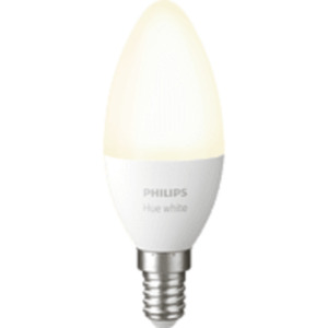 PHILIPS Hue White E14 Einzelpack Bluetooth LED Lampe, Weiß