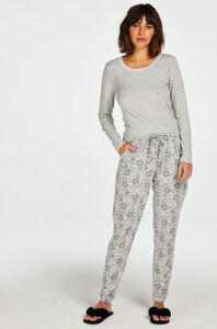 Hunkemöller Pyjamahose Jersey Grau