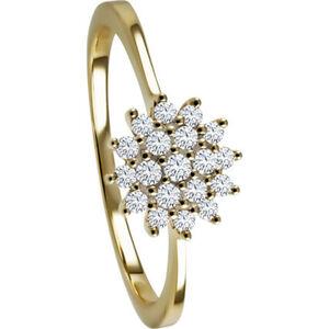 Moncara Damen Ring, 585er Gelbgold mit 19 Diamanten