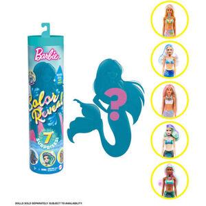 Barbie Color Reveal Meerjungfrau Puppe mit 7 Überraschungen