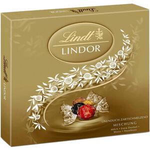 Lindt Lindor Präsent Mischung, gold, 499 g