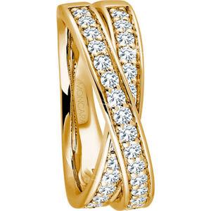 Moncara Damen Ring, 585er Gelbgold mit 32 Diamanten