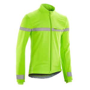 Fahrrad Winterjacke RC100 Herren EN1150 neongelb