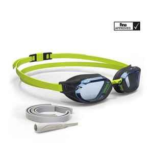 Schwimmbrille 900 B-Fast schwarz/grün Klarsichtgläser