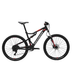 Mountainbike ST530 S 27,5 Zoll voll gefedert schwarz/rot