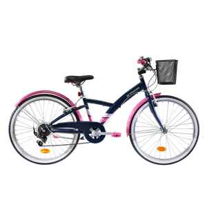 Trekkingrad Kinderfahrrad 24 Zoll Original 500 dunkelblau/pink