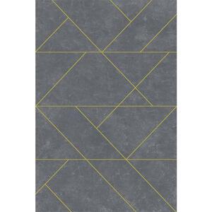 Novel Webteppich 80/150 cm grau , Marble , Textil , Abstraktes , 80x150 cm , Heatset , für Fußbodenheizung geeignet, in verschiedenen Größen erhältlich, Fasern thermofixiert (heatset), lichtunem