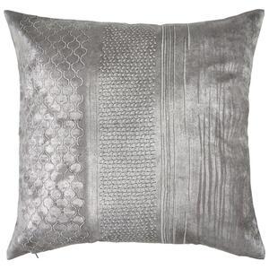 Ambiente Kissenhülle grau, silberfarben , Timeless , Textil , Abstraktes , Velours , bügelleicht, hochwertige Qualität, formstabil, langlebig , 003524009001