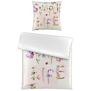 Esposa Bettwäsche satin multicolor, weiß 135/200 cm , Enjoy , Textil , Blume , 135x200 cm , Satin , atmungsaktiv, saugfähig, weiche und anschmiegsame Oberfläche, edel glänzend, dicht gewebtes Ga