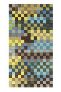 Teppichart Pixel grün Gr. 70 x 140