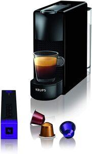 Krups Nespresso XN1108 Essenza Mini Kaffeekapselmaschine, 1260 Watt, schwarz, 0,6 Liter [Energieklasse A]