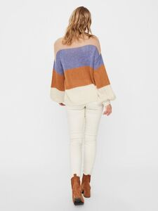 COLOUR BLOCKED KNITTED PULLOVER