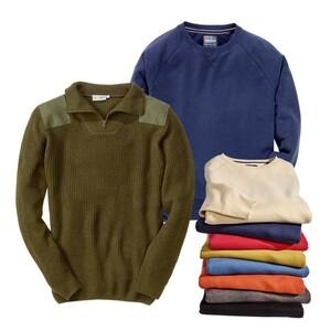 Herren-Sweatshirt oder -Arbeitstroyer Farbbeispiele, Größe: S - XXL bzw. M - XXL, o. Abb. Herren-Sweatshirt Größe: 3XL - 5XL 15,99 €, je