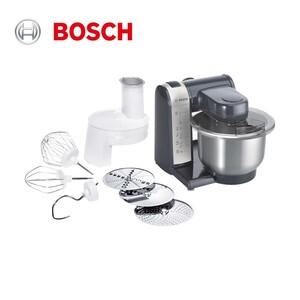 Küchenmaschine MUM48A1 · 3-D-Rührsystem · 4 Schaltstufen · hochwertiges Pâtisserie-Set (Schlag-, Rührbesen, Knethaken) · Durchlaufschnitzler mit 3 Scheiben