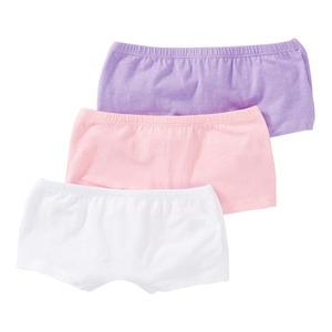 Mädchen-Panty mit hohem Baumwoll-Anteil, 3er Pack