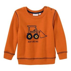 Baby-Jungen-Sweatshirt mit Bagger-Aufdruck