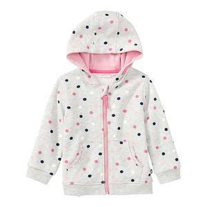 Baby-Mädchen-Sweatjacke mit Punkte-Muster