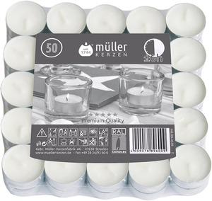 Müller Kerzen 6h-Lichte, 50er Flat Pack