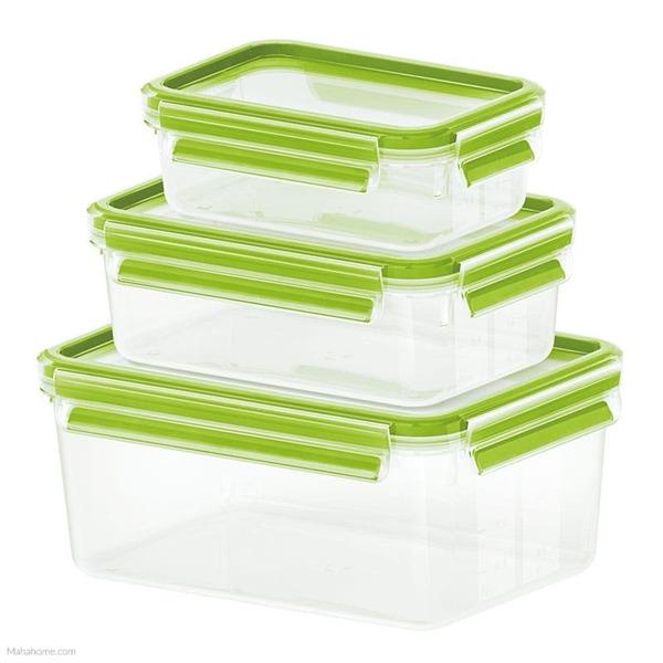 Emsa Frischhaltedose Clip & Close 3er Set grün