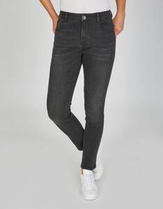MY OWN - 5-Pocket-Jeans mit Wascheffekt