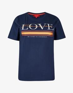 Thea - Basic-Shirt mit Letterprint aus reiner Baumwolle