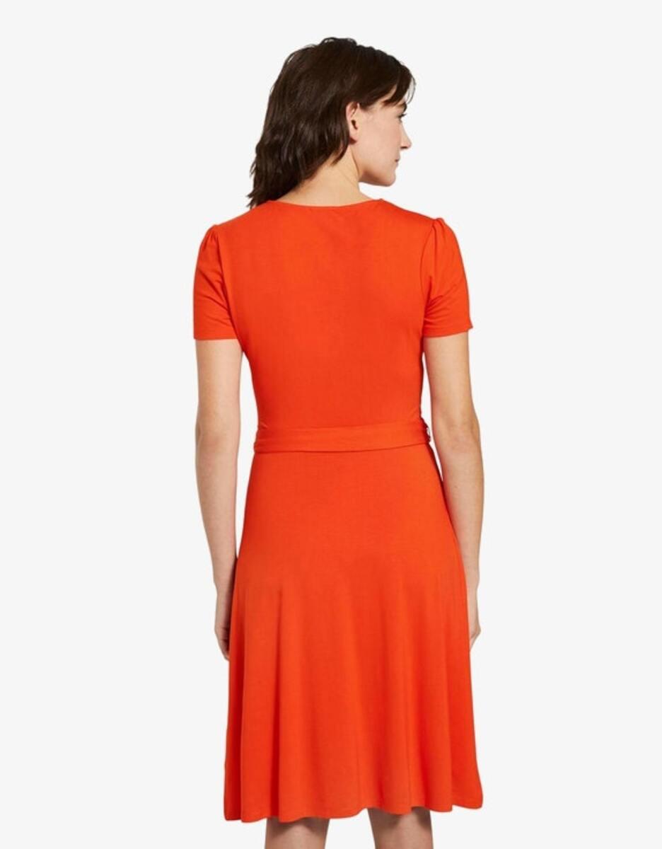 Bild 3 von Tom Tailor - Jersey-Kleid mit Bindegürtel und Wickeloptik