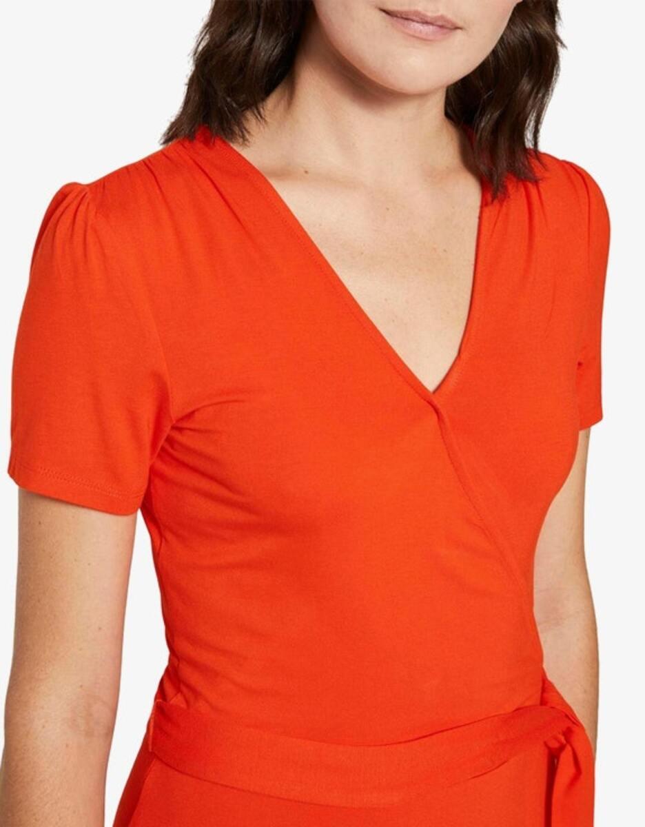 Bild 5 von Tom Tailor - Jersey-Kleid mit Bindegürtel und Wickeloptik