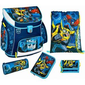 Scooli Schulranzen Set - Transformers - blau - Campus Up - 5-teilig