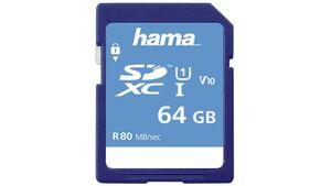 Hama SDXC 64GB Class 10 UHS-I 80MB/S