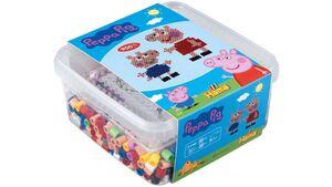 Hama - Bügelperlen Box mit Perlen und Stiftplatte - Peppa Pig, ca. 900 Perlen