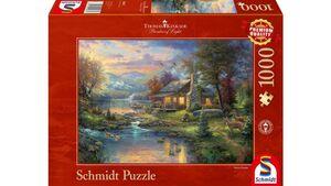 Schmidt Spiele - Erwachsenenpuzzle - Im Naturparadies, 1000 Teile