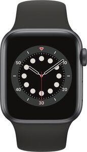 Apple Watch Series 6 GPS, 40mm Alu schwarzes Armband - Regular