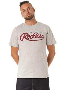 Young and Reckless Big R Script - T-Shirt für Herren - Grau