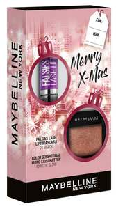 Maybelline New York X-Mas Set Falsies Lash Lift Mascara Black + Color Sensational Mono Lidschatten Nr. 40