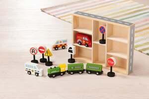 IDEENWELT Holz-Autoset Straßenverkehr