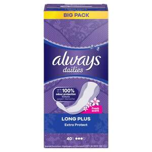 Always dailies Extra Protect Slipeinlagen Long Plus Fresh scent Big Pack