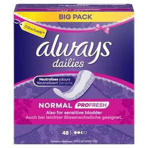 Always dailies PROFRESH Slipeinlagen Normal Big Pack