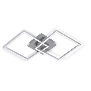 LED-Deckenleuchte 'Frames' nickelfarben 62 x 36 cm