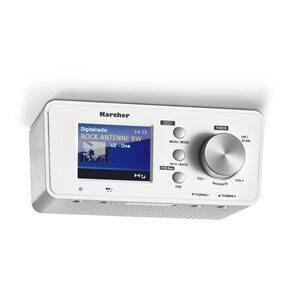 Karcher RA 2035D Unterbauradio DAB+ silber, Weiß